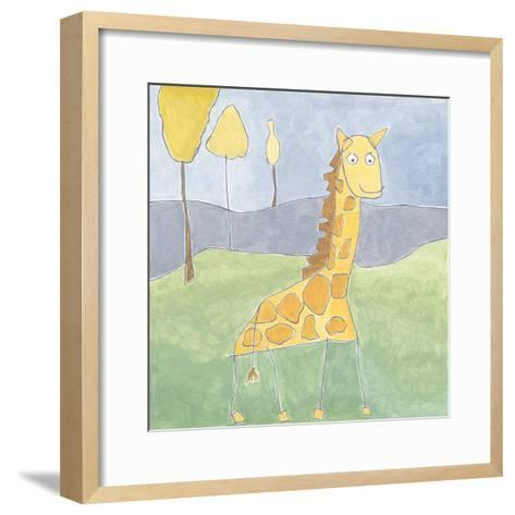Quinn's Giraffe-Megan Meagher-Framed Art Print