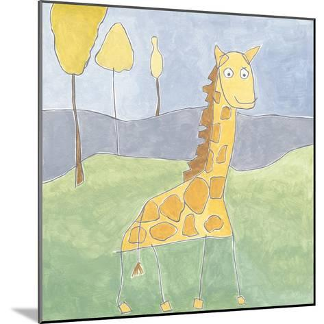 Quinn's Giraffe-Megan Meagher-Mounted Art Print