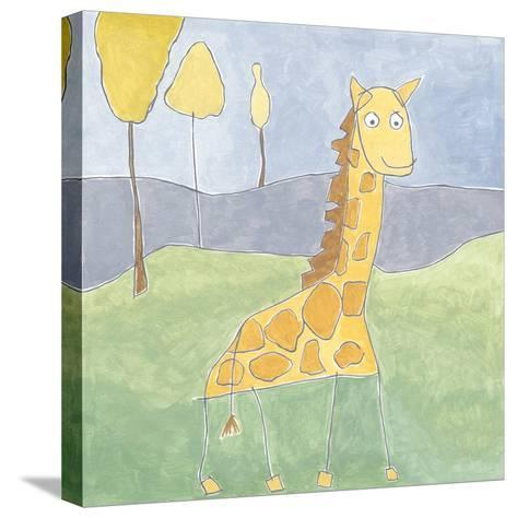 Quinn's Giraffe-Megan Meagher-Stretched Canvas Print