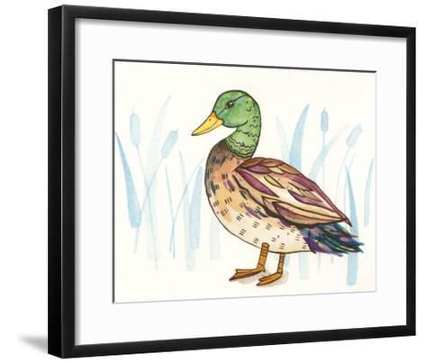 Wetland Mallard I-Rebekah Ewer-Framed Art Print