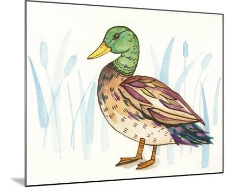 Wetland Mallard I-Rebekah Ewer-Mounted Art Print