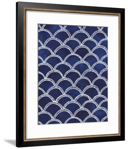 Indigo Pattern II-Grace Popp-Framed Art Print