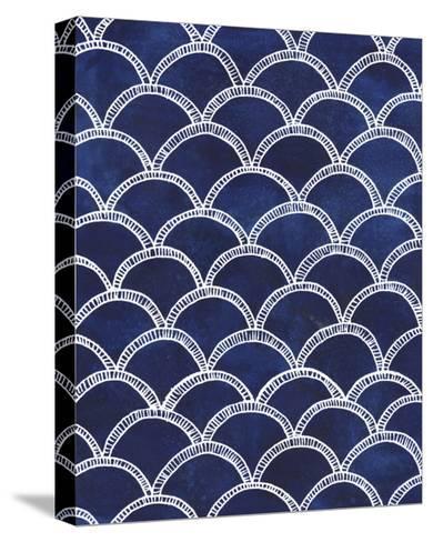 Indigo Pattern II-Grace Popp-Stretched Canvas Print