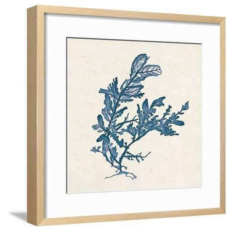 Indigo Algae III-Jennifer Goldberger-Framed Art Print