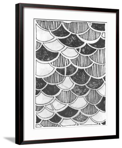 Symbol Imprint III-June Vess-Framed Art Print