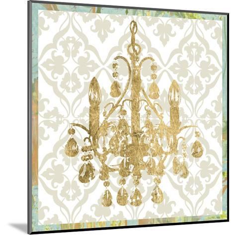 Damask Chandelier IV-Jennifer Goldberger-Mounted Art Print