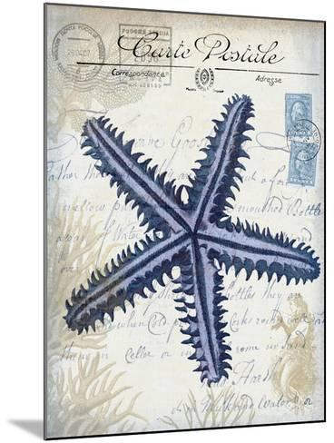 Seaside Postcard Cream a-Fab Funky-Mounted Art Print