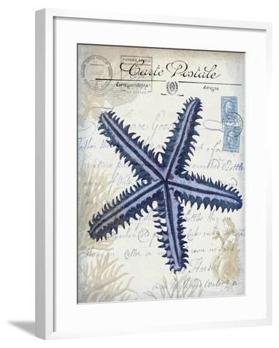 Seaside Postcard Cream a-Fab Funky-Framed Art Print