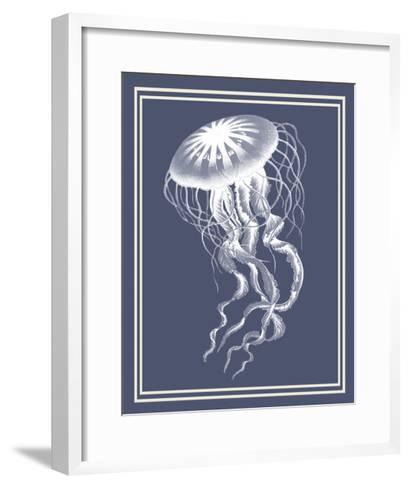 Mixed Nautical White on Indigo Blue e-Fab Funky-Framed Art Print