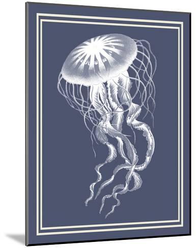 Mixed Nautical White on Indigo Blue e-Fab Funky-Mounted Art Print