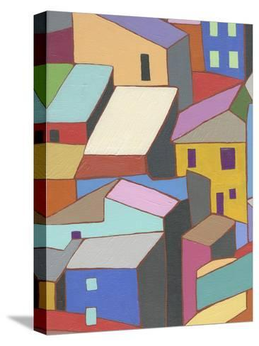 Rooftops in Color II-Nikki Galapon-Stretched Canvas Print