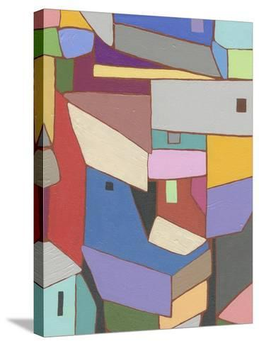 Rooftops in Color X-Nikki Galapon-Stretched Canvas Print