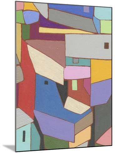 Rooftops in Color X-Nikki Galapon-Mounted Art Print