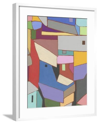 Rooftops in Color X-Nikki Galapon-Framed Art Print