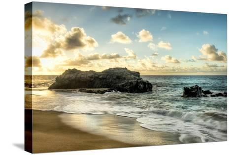 Sunset at Lumahai Beach-Danny Head-Stretched Canvas Print