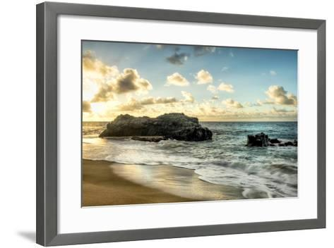 Sunset at Lumahai Beach-Danny Head-Framed Art Print