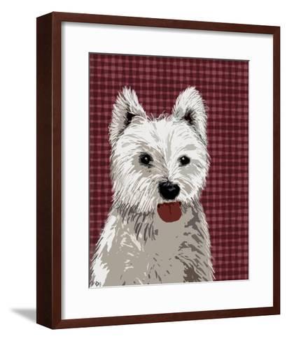 West Highland Terrier Plain-Fab Funky-Framed Art Print