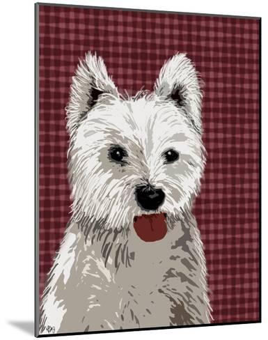 West Highland Terrier Plain-Fab Funky-Mounted Art Print