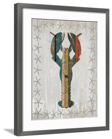 Distressed Wood Style Lobster 1-Fab Funky-Framed Art Print