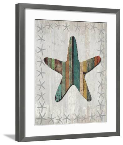 Distressed Wood Style Starfish 1-Fab Funky-Framed Art Print