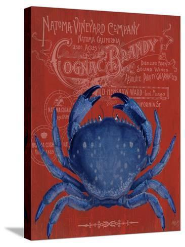 Crab Prohibition Crab On Red-Fab Funky-Stretched Canvas Print