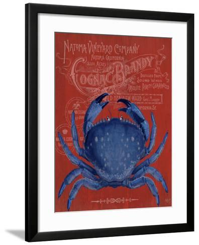 Crab Prohibition Crab On Red-Fab Funky-Framed Art Print