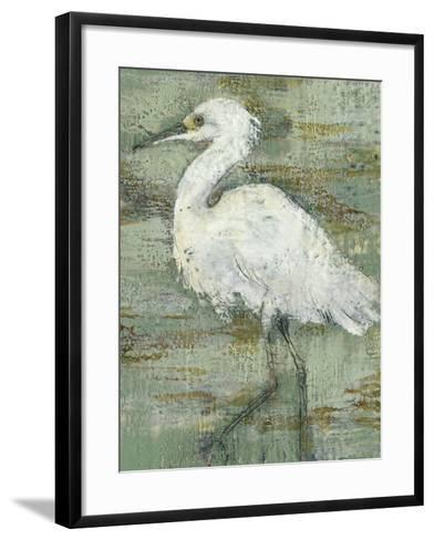 Textured Heron I-Jennifer Goldberger-Framed Art Print