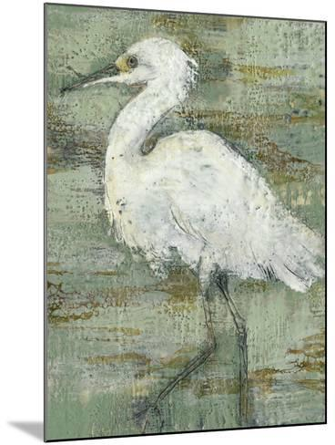Textured Heron I-Jennifer Goldberger-Mounted Art Print