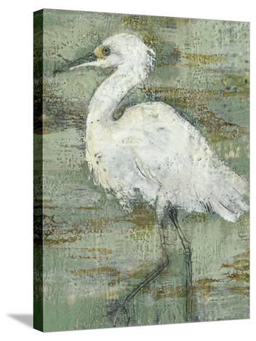 Textured Heron I-Jennifer Goldberger-Stretched Canvas Print