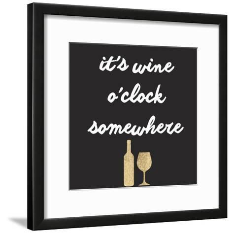 Wine Sentiment IV-Anna Hambly-Framed Art Print