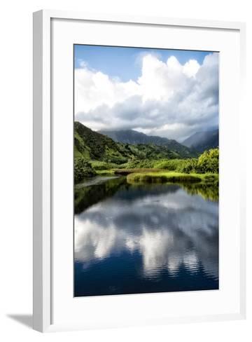 Cloud Reflections II-Danny Head-Framed Art Print