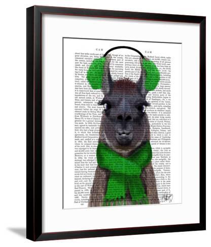 Chilly Llama, Green-Fab Funky-Framed Art Print