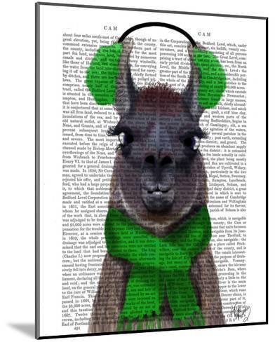 Chilly Llama, Green-Fab Funky-Mounted Art Print