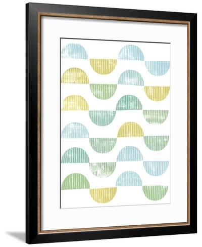 Semi Circle Block Print I-Grace Popp-Framed Art Print
