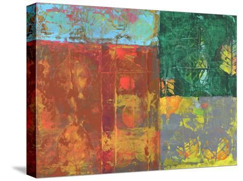 Colorful Leaf Imprint I-Elena Ray-Stretched Canvas Print