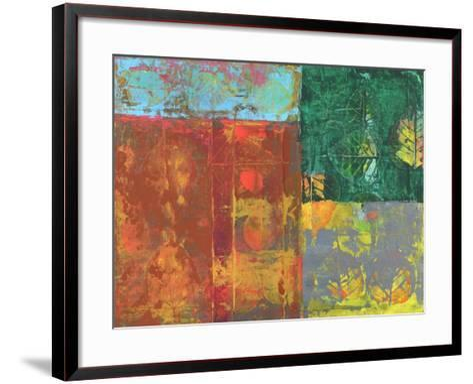 Colorful Leaf Imprint I-Elena Ray-Framed Art Print