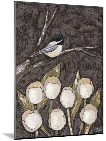 Chickadee & Tulips I-Jade Reynolds-Mounted Art Print