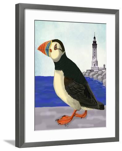Puffin On the Quay-Fab Funky-Framed Art Print