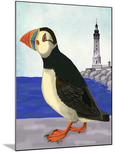Puffin On the Quay-Fab Funky-Mounted Art Print