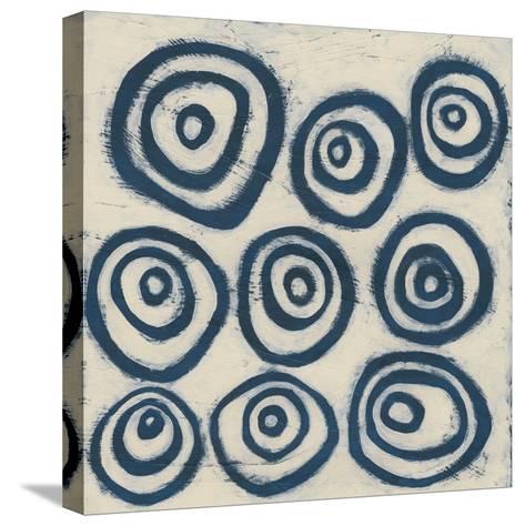 Indigo Signals I-June Erica Vess-Stretched Canvas Print