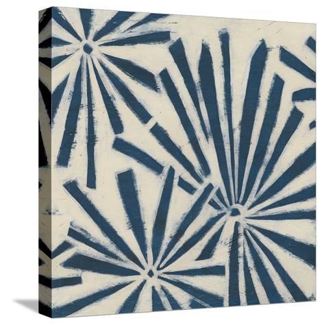 Indigo Signals V-June Erica Vess-Stretched Canvas Print