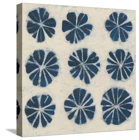 Indigo Signals IX-June Erica Vess-Stretched Canvas Print