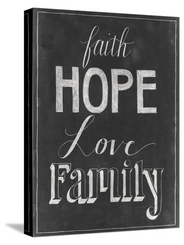 Chalkboard Faith I-Grace Popp-Stretched Canvas Print