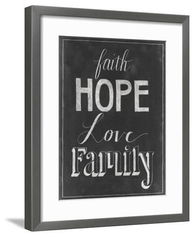 Chalkboard Faith I-Grace Popp-Framed Art Print