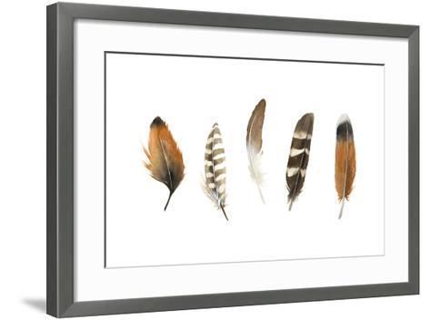 Red Rock Feathers I-Grace Popp-Framed Art Print