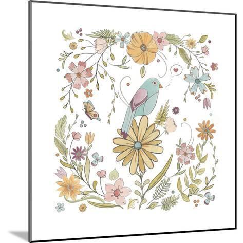 Happy Garden I-June Vess-Mounted Art Print