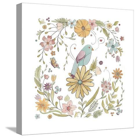 Happy Garden I-June Vess-Stretched Canvas Print