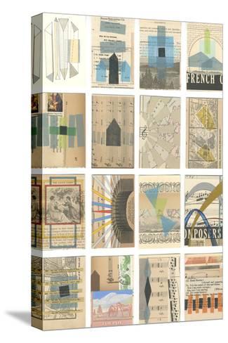 Mid Century Grid I-Nikki Galapon-Stretched Canvas Print
