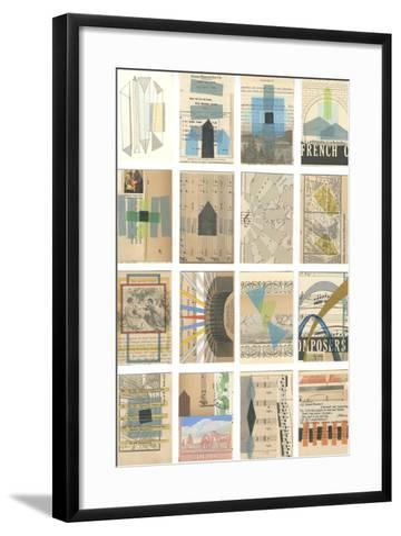 Mid Century Grid I-Nikki Galapon-Framed Art Print
