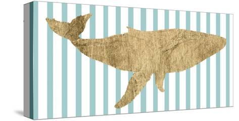 Pin Stripe Whale I-Studio W-Stretched Canvas Print